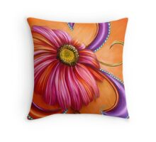 The Paisley Gerbera by Alma Lee Throw Pillow