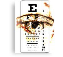 Eye Chart - POSTER Canvas Print