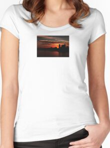 and yet another day closes... Women's Fitted Scoop T-Shirt
