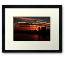 and yet another day closes... Framed Print