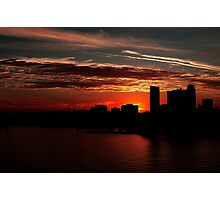 and yet another day closes... Photographic Print