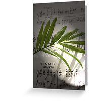 Musical Notes Artwork Greeting Card