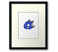 Blue smash ball emboss Framed Print
