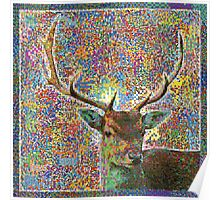 Colorful Deer Poster