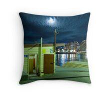 Balmain wharf by night Throw Pillow
