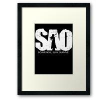 Sword Art Online Scavenge Slay Survive Framed Print