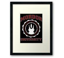 Mordor University Framed Print