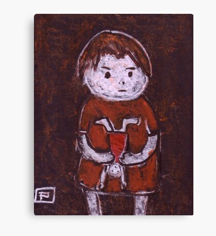 Child with a doll Canvas Print