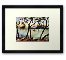 Sunset Sail - seascape Framed Print