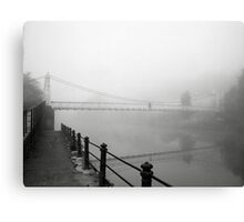 The Shakey Bridge In The Fog Canvas Print