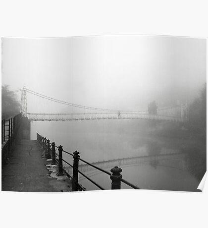 The Shakey Bridge In The Fog Poster