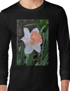 Orange and White Daffodil in the Garden Long Sleeve T-Shirt