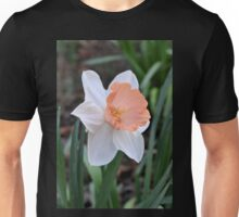 Orange and White Daffodil in the Garden Unisex T-Shirt