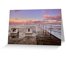 Diving Blocks at Dusk Greeting Card