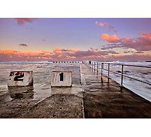 Diving Blocks at Dusk Photographic Print