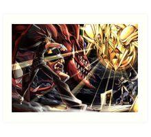 Yu-Gi-Oh! - Yami Yugi Vs Marik Art Print