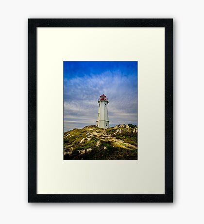 Louisbourg Lighthouse Framed Print