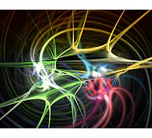 Colored Synapses Photographic Print
