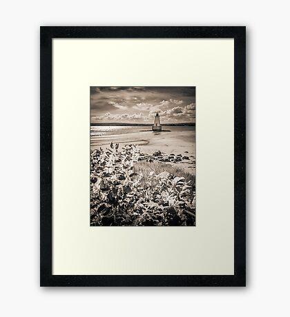Sandy Point Lighthouse Framed Print