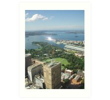 One of the views from Centrepoint Tower Art Print