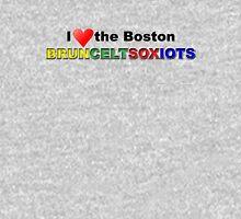 I Love Boston Sports (red heart) Unisex T-Shirt
