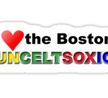 I Love Boston Sports (red heart) Sticker