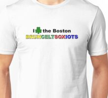 I Love Boston Sports (green shamrock) Unisex T-Shirt