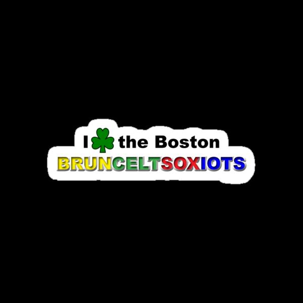 I Love Boston Sports (green shamrock) by Jeff Newell