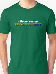 I Love Boston Sports (white shamrock) T-Shirt