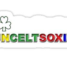 I Love Boston Sports (white shamrock) Sticker