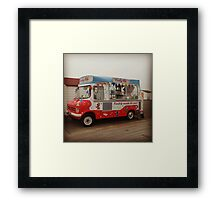 Classic Retro 70s British Ice Cream Van Framed Print