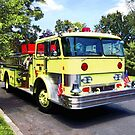 Yellow Fire Truck by Susan Savad