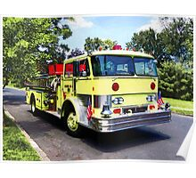 Yellow Fire Truck Poster