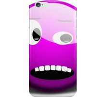 Shocked Purple Smiley Face iPhone Case/Skin