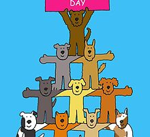 Happy Mother's Day cartoon dogs by KateTaylor