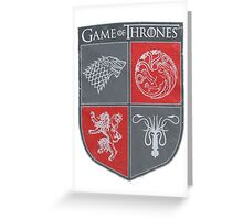 Game of Thrones - Four Houses Greeting Card