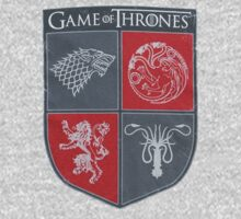 Game of Thrones - Four Houses by mavroftis94