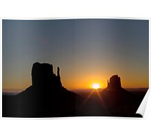 The Mittens at Sunrise Monument Valley Poster