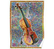 Colorful Violin Poster