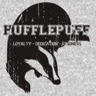 Hufflepuff (black) by K- kipper