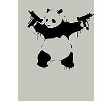 Banksy Panda With Guns Photographic Print