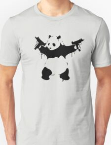 Banksy Panda With Guns Unisex T-Shirt