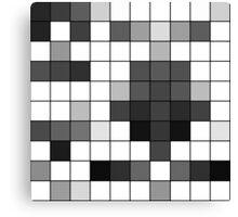 Modern Black and White Geometric Squares Canvas Print