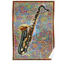 Colorful Saxophone Poster