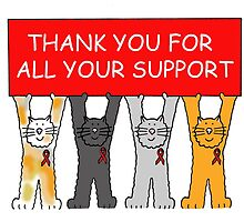 Red ribbon, thank you for your support. by KateTaylor