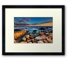 The night will be blue ... Framed Print