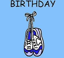 Happy Birthday to male runner, training shoes. by KateTaylor