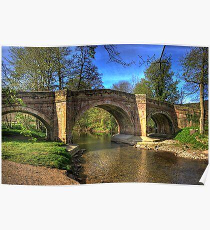 The Bridge near Scawton,North Yorkshire Poster