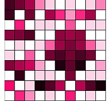 Modern Pink, Black, and White Geometric Squares Photographic Print