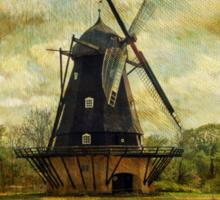 Fuglevad Windmill 1832 Sticker